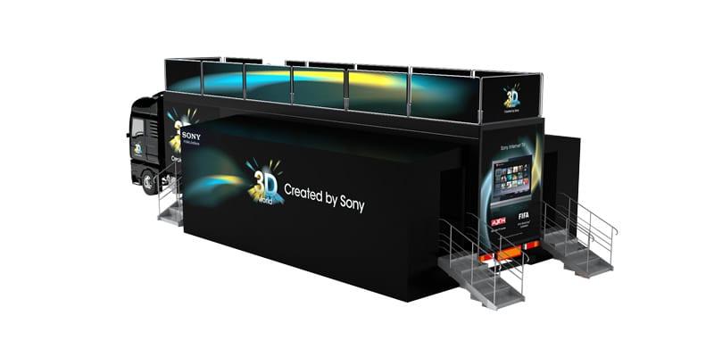Sony 3D Truck Roadshow: διαδρομή στην Ελλάδα με το… ευαγγέλιο της 3D τεχνολογίας