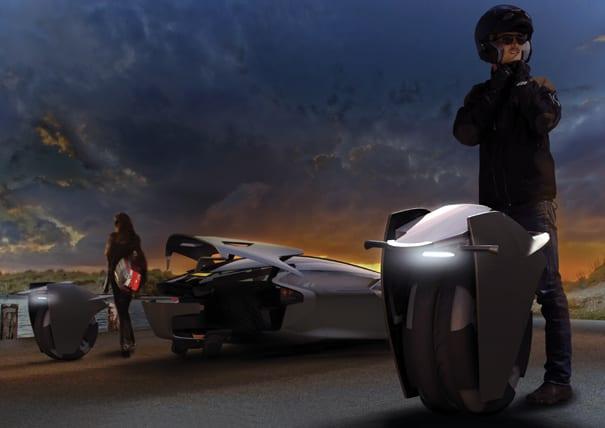 Απίστευτο ηλεκτρικό όχημα: Τα ηλεκτρικά σκούτερ είναι… τα λάστιχα!