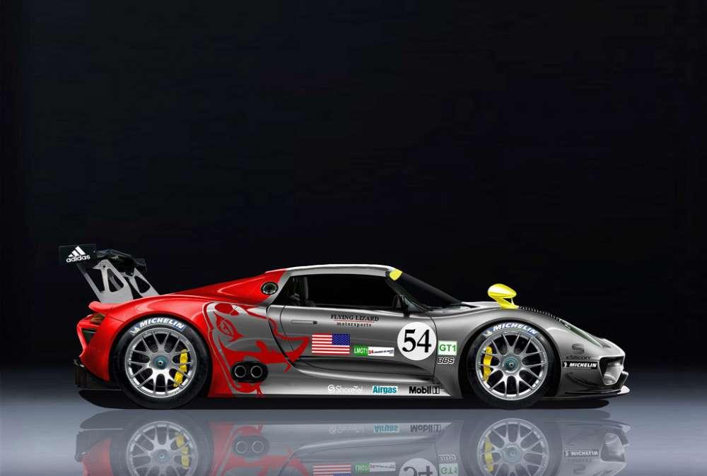 Μια racing Porsche 918 σε αγωνιστικά χρώματα;