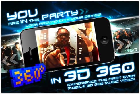 Στον χώρο των apps οι Black Eyed Peas με γύρισμα στις 360 μοίρες…