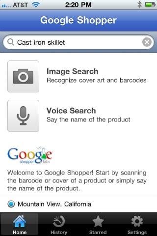 Google Shopper for iPhone: ξόδευε τώρα και στο λεωφορείο…