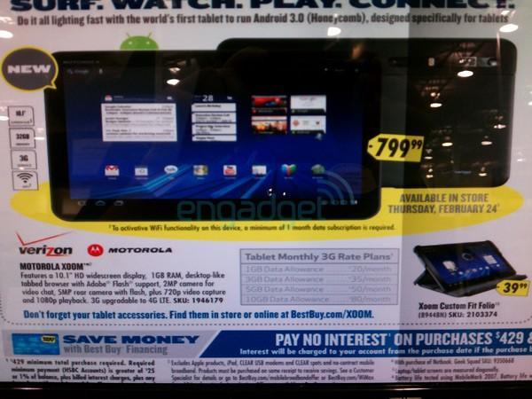 Motorola Xoom tablet: μια πρώτη εικόνα για την τιμή…