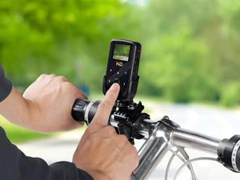Xtreme βιντεοσκόπηση για τη βόλτα με το ποδήλατο…