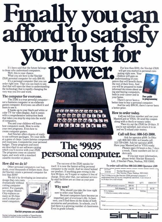ZX81: πριν από 30 χρόνια συγκλόνιζε τα σπίτια ο πρώτος home υπολογιστής που ΜΠΟΡΟΥΣΕΣ να αγοράσεις…
