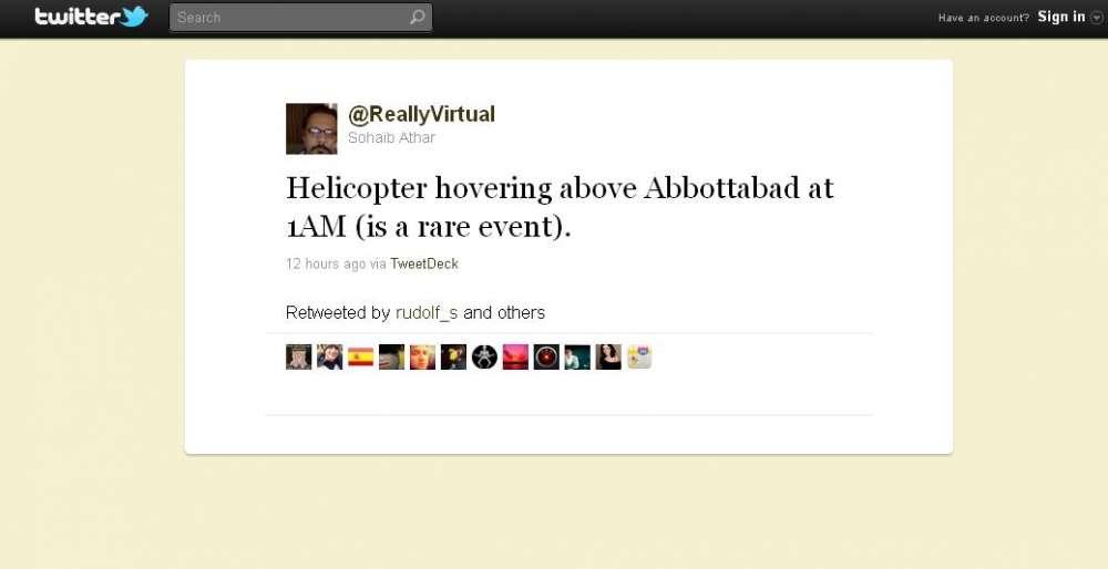 15 λεπτά δημοσιότητας: Πακιστανός ανέβαζε live στο Twitter την επιδρομή κατά του Osama bin Laden