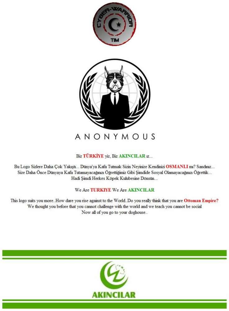 Επίθεση από Τούρκους δέχτηκαν οι χάκερ Anonymous…