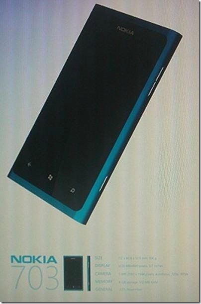 Nokia 703  – Symbian ή Windows Phone 7;