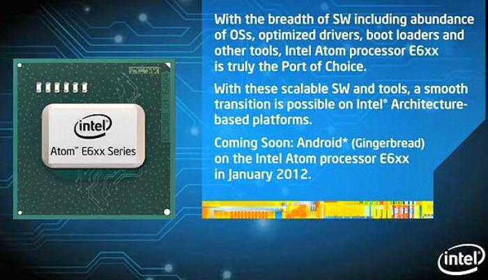 Intel Atom – ο επεξεργαστής θα υποστηρίζει λειτουργικό Android Gingerbread…