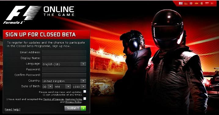 Εγγραφές για το F1 Online beta…
