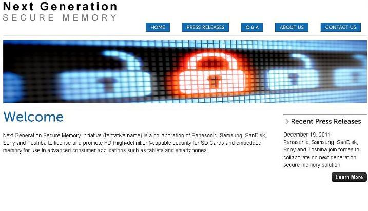 Sony, Panasonic, Samsung, Sandisk, και Toshiba – ανακοινώνουν το Next Generation Secure Memory Initiative