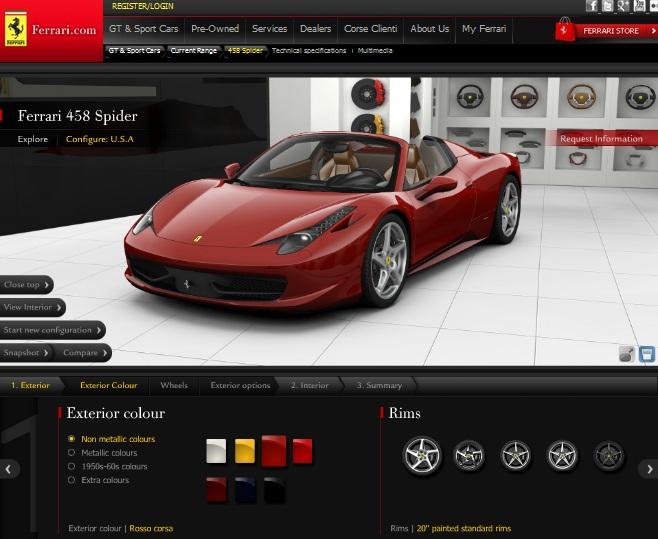 Ferrari – φτιάξε τη δική σου 458 Spider online…