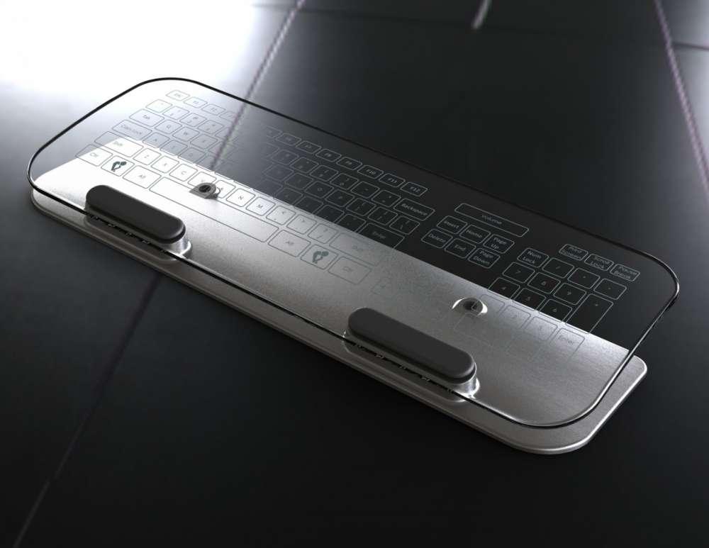 Έκθεση CES 2012 – ένα concept πληκτρολόγιο από γυαλί…
