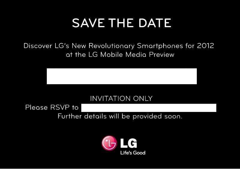 LG MWC 2012 media event…