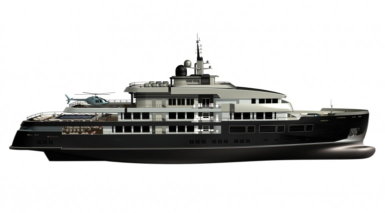 NPe75 mega expedition yacht concept…
