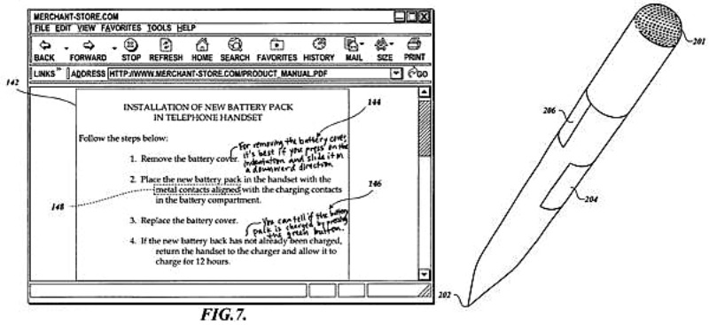 Amazon πατέντα για 'intelligent stylus'