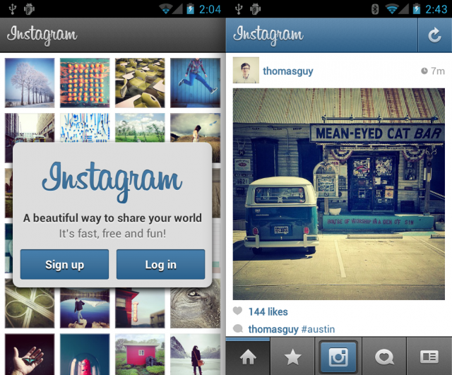 Instagram για το Android – διαθέσιμο…