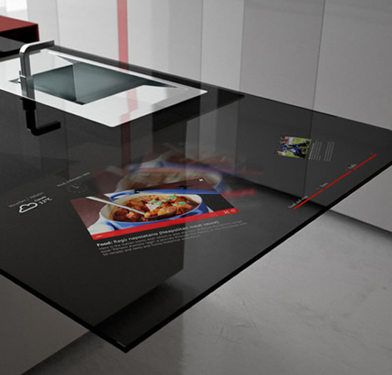 High-tech κουζίνα με ενσωματωμένο multimedia σύστημα…