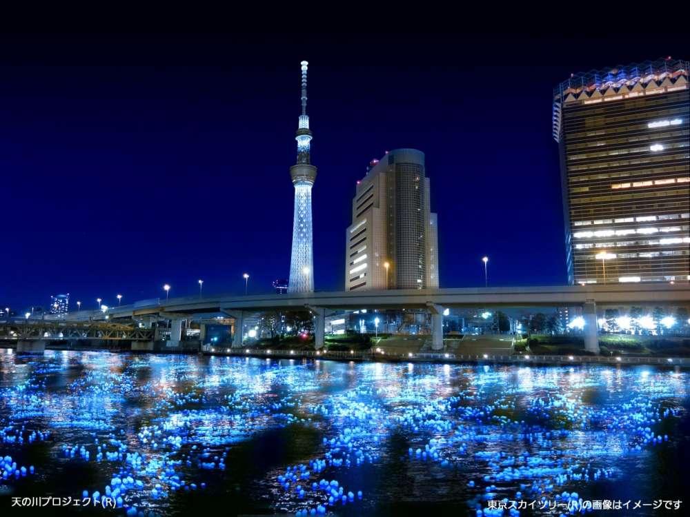 100.000 LED… πυγολαμπίδες πλέουν στο ποτάμι!