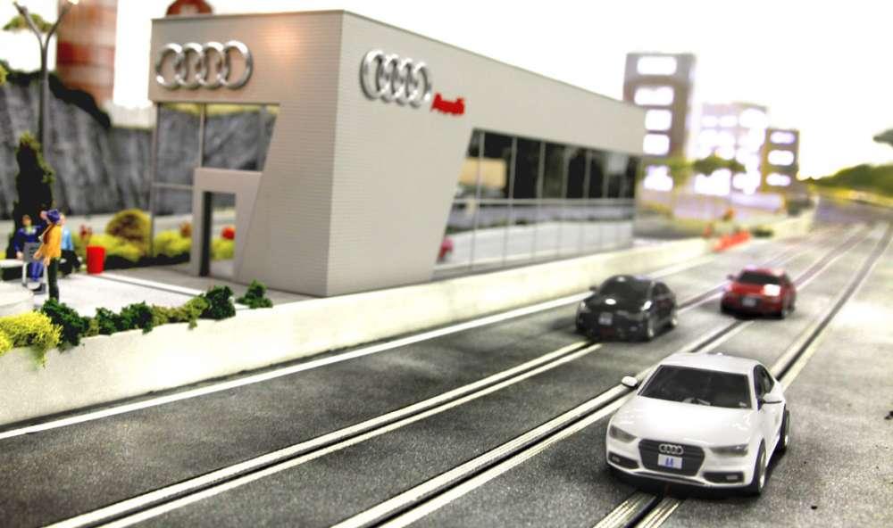Audi slot car racing track