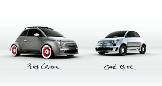 Fiat 500 Cafe Racer Beach Cruiser