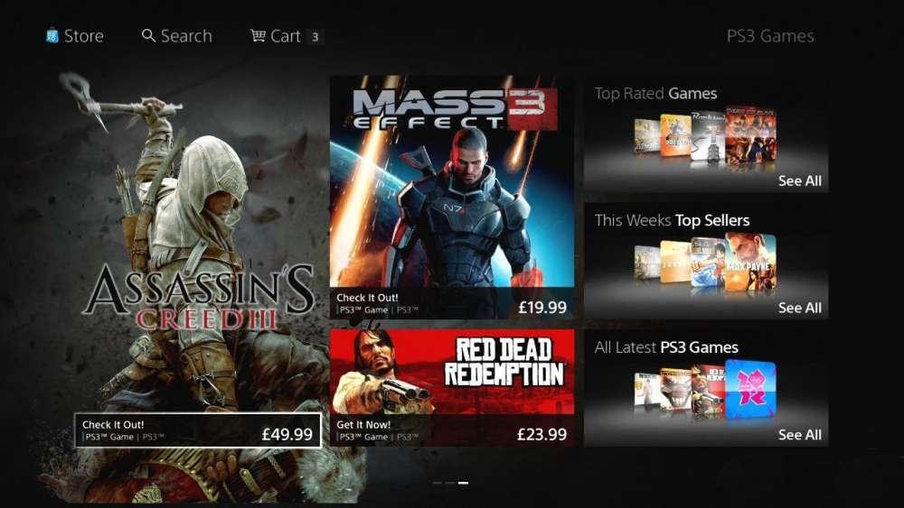 Νέο PS Store για το Playstation 3