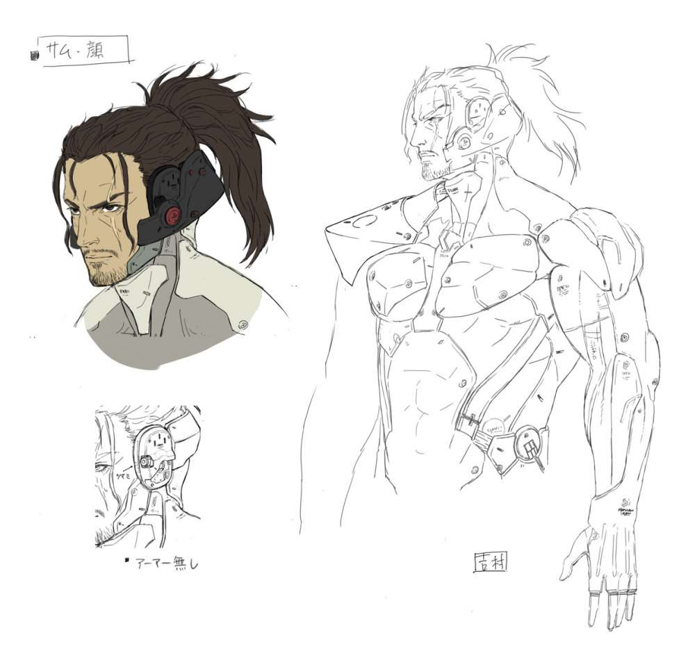 Metal Gear Rising Revengeance Samuel Concept Art 10