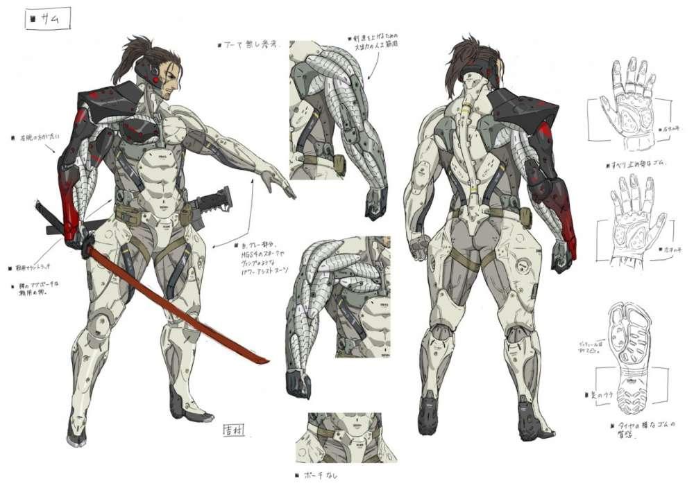 Metal Gear Rising Revengeance Samuel Concept Art 3
