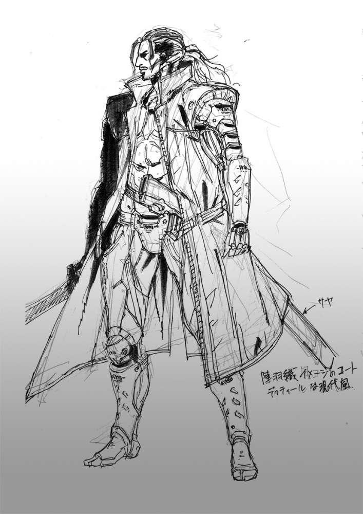 Metal Gear Rising Revengeance Samuel Concept Art