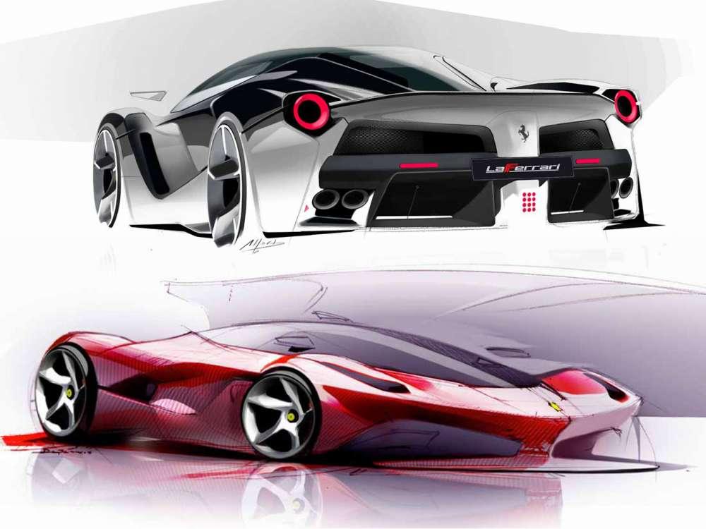 Laferrari – 2013 | Supercar Sketches |Ferrari Design Sketches