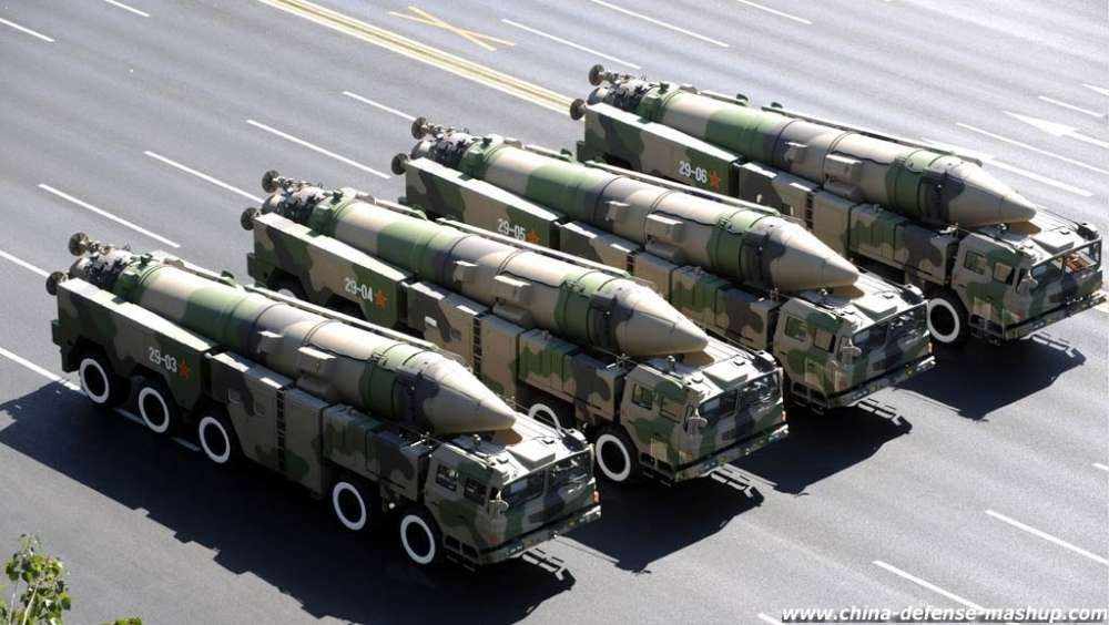 Dong Feng 21D missiles