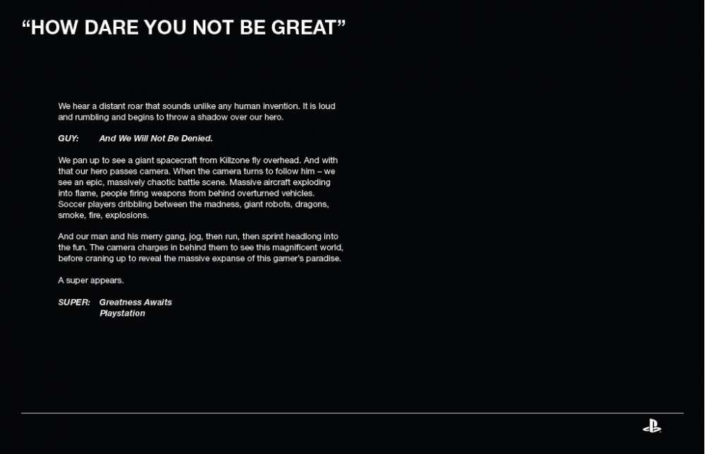 "PlayStation 4 – ""Greatness Awaits"""