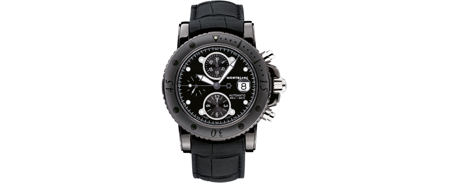 Montblanc Sport DLC Chronograph Watch