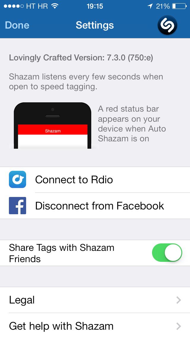 Shazam για iPhone – τώρα ακούει συνέχεια…