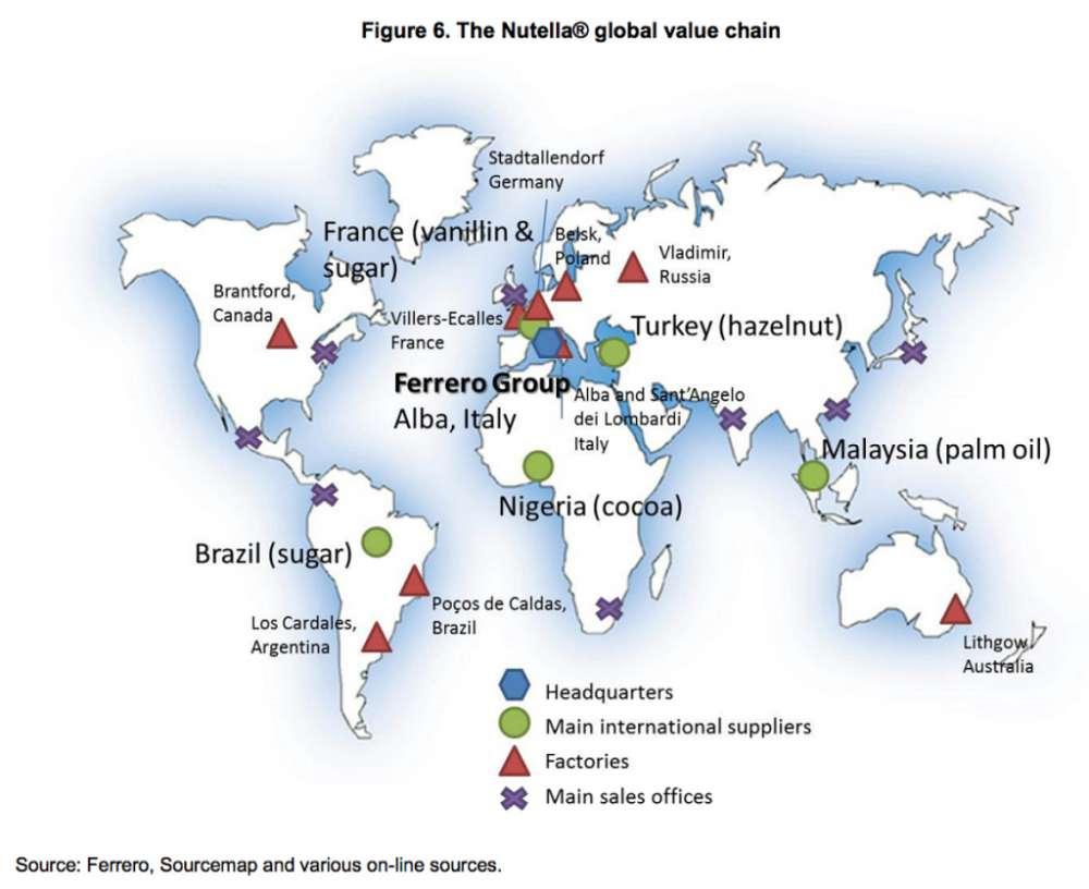 Nutella World Map