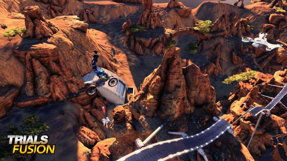 Trials Fusion 'Ride on' Trailer & Screens