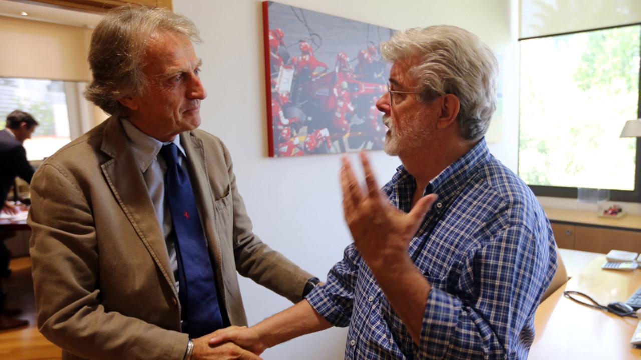 George Lucas και Samuel L. Jackson επισκέπτες στη Ferrari στο Maranello…