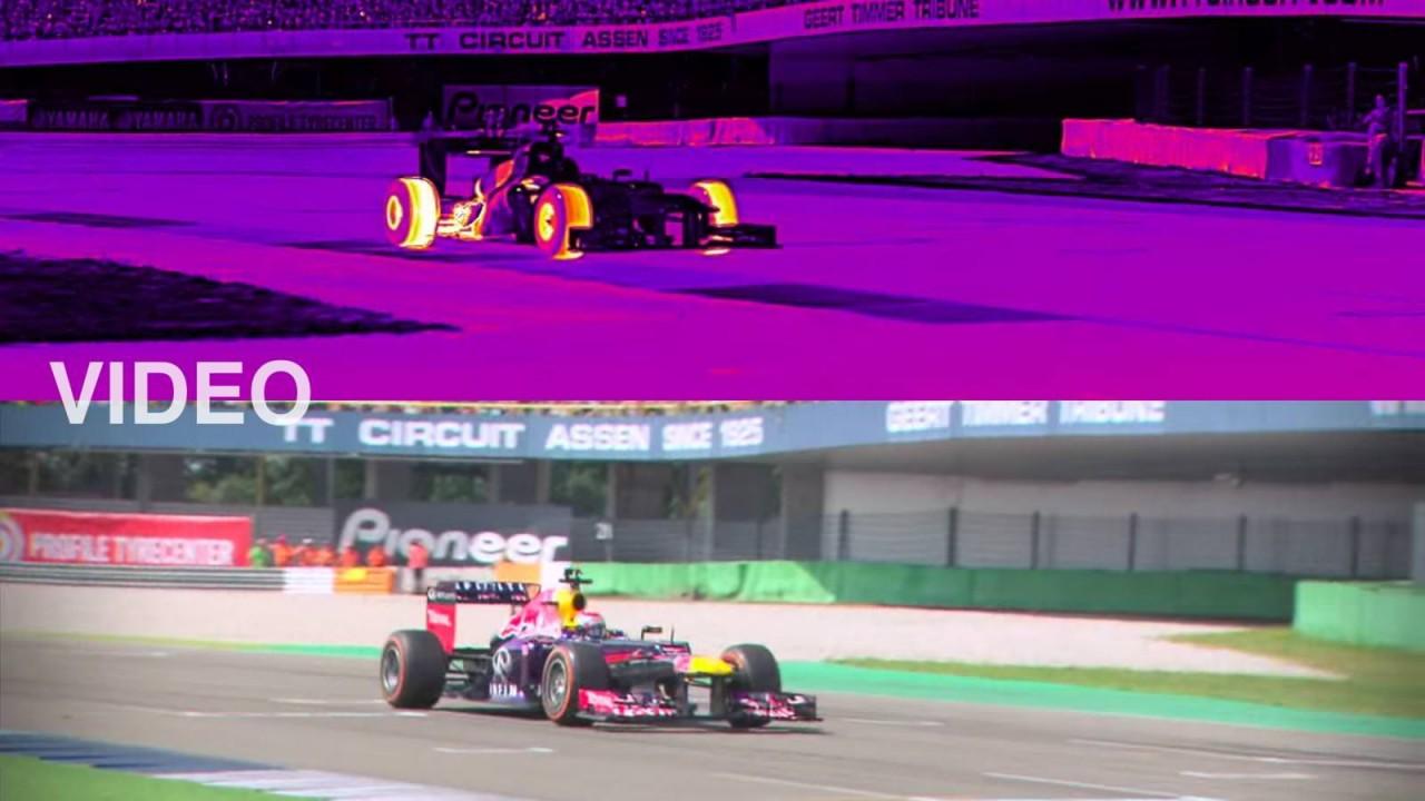 Δείτε το καταπληκτικό βίντεο μιας F1 με τα μάτια μιας θερμικής κάμερας!
