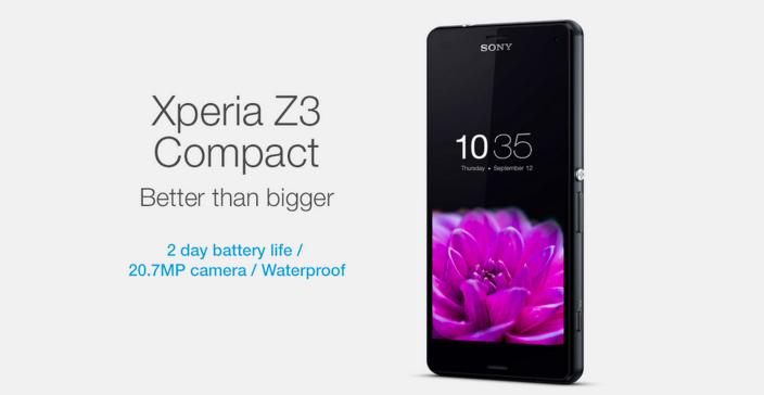 """Η Sony χτυπά το iPhone 6 με διαφήμιση του Xperia Z3 Compact – """"Better than bigger"""""""