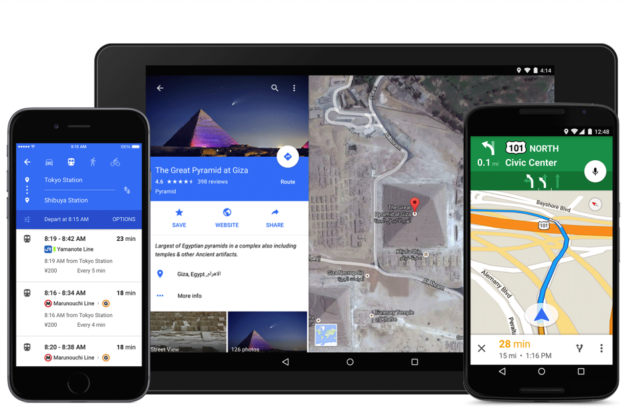Google – ανασχεδιασμός του Maps για iPhone και Android Lollipop…