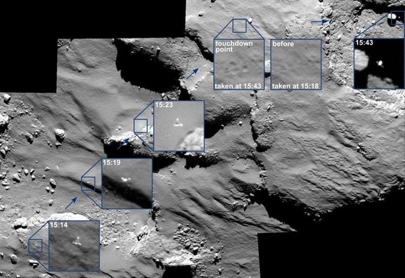 Δείτε σε φωτό τον Philae να… χοροπηδάει πάνω στο Comet 67P/C-G!