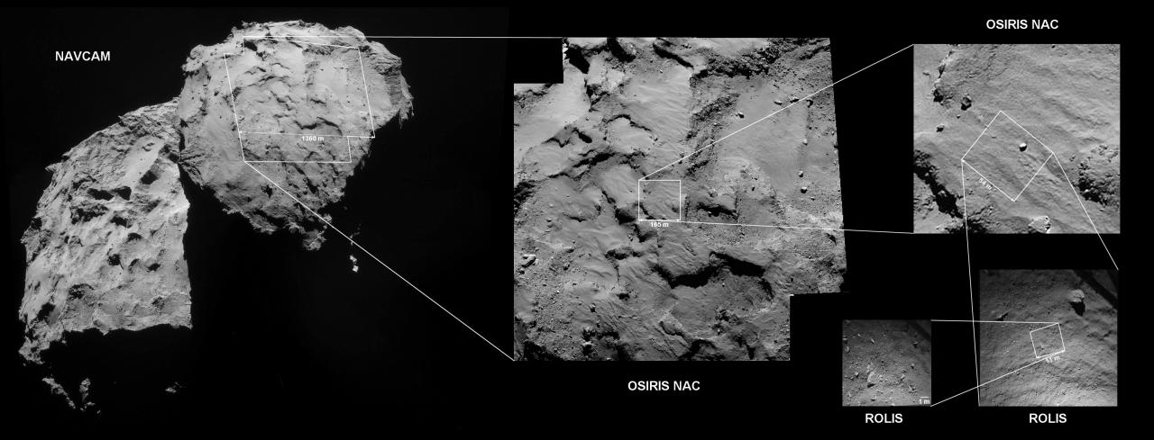 Δείτε που είναι το μικρό διαστημόπλοιο πάνω στον κομήτη…