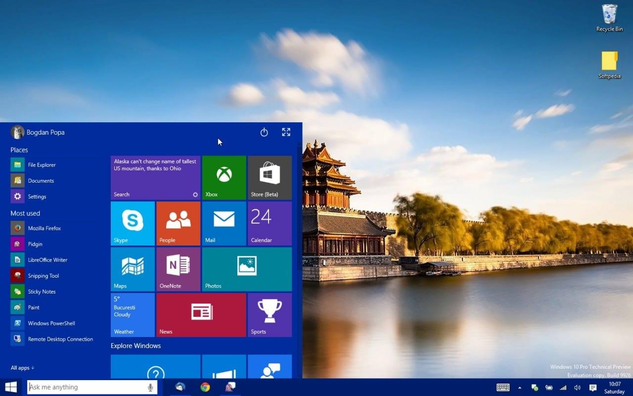 Αυτό είναι το νέο Windows 10 Start Menu/Start Screen