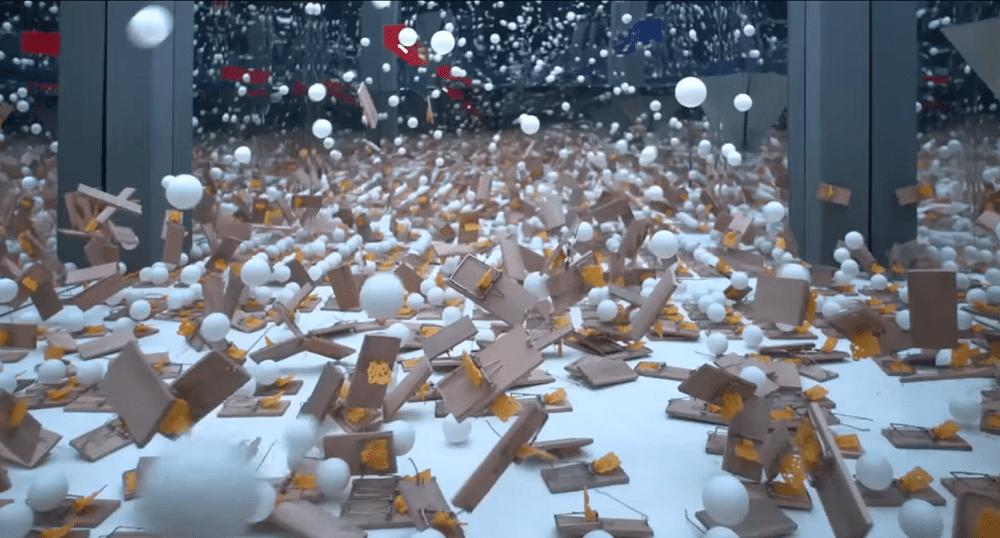 Ping Pong Ball Chain Reaction