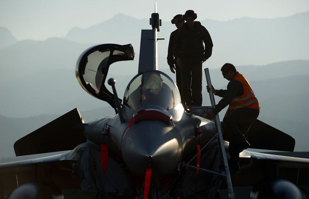 Dassault Rafale preventing nuclear missiles exercise 2