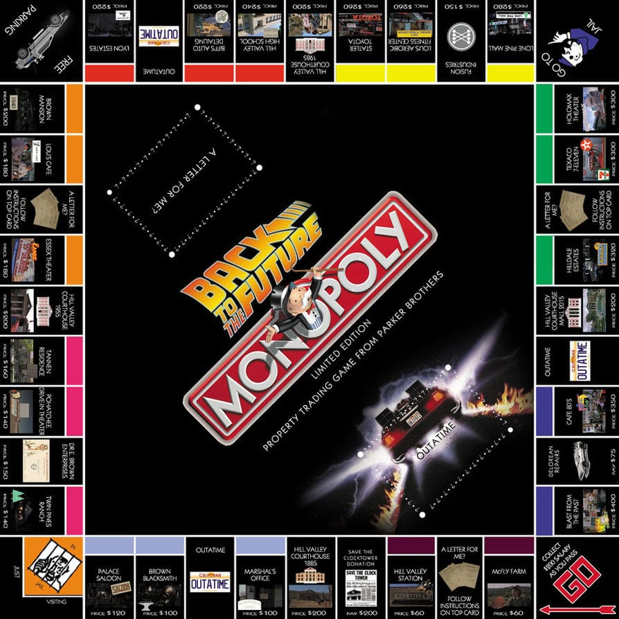 'Back To The Future' Monopoly