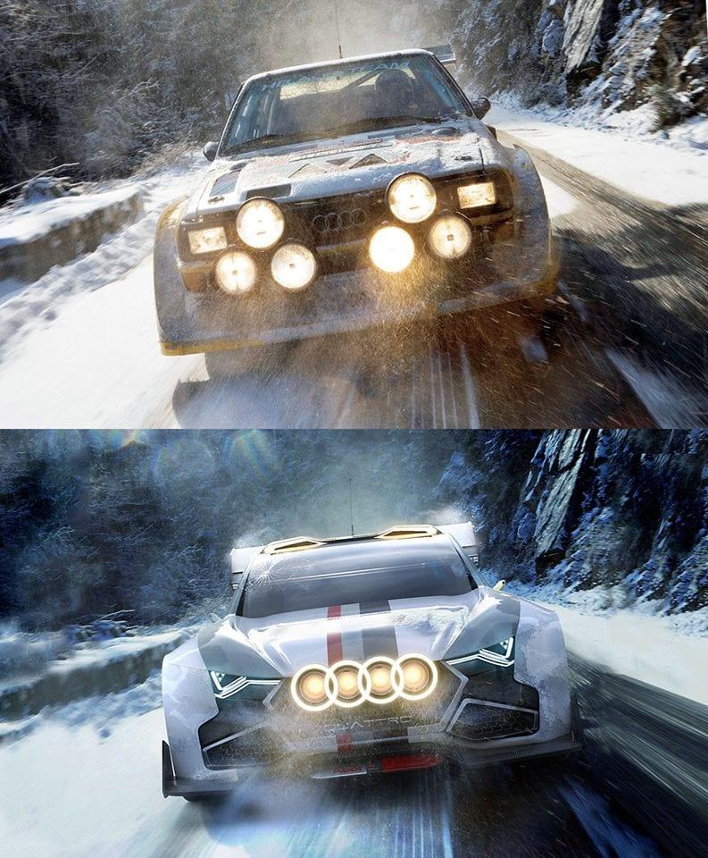 Audi Quattro Vs Audi Quattro Concept
