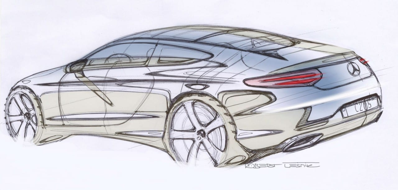 01-Mercedes-Benz-C-Class-Coupe-Design-Sketch-05