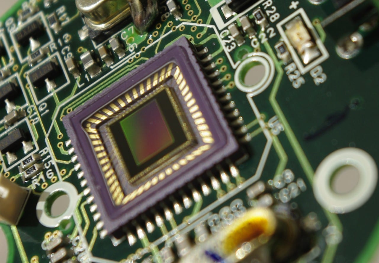 Close up of CCD Webcam Tecnology.