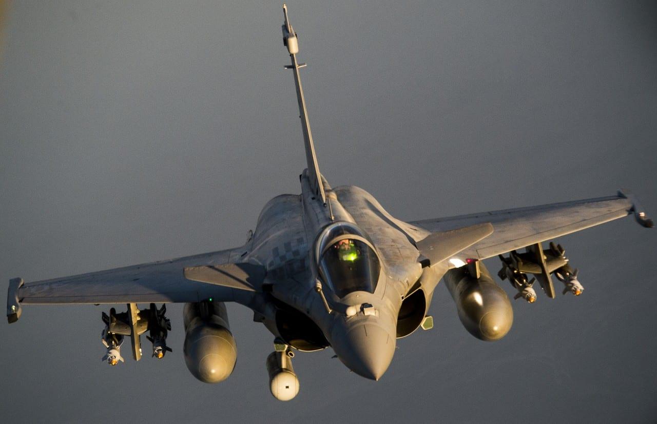 Rafales + F-15s In-flight Refueling