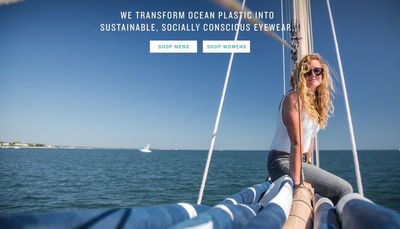 Norton Point Ocean Plastic Sunglasses